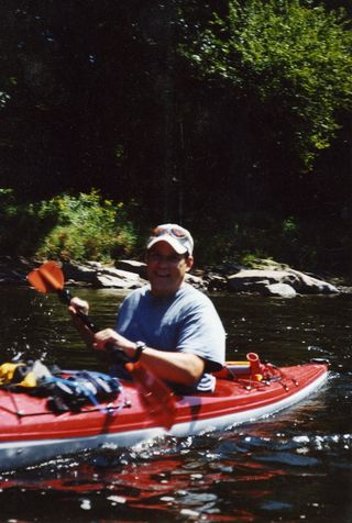 Darren kayaking